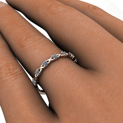 Intertwined Anniversary Stackable Diamond Wedding Band