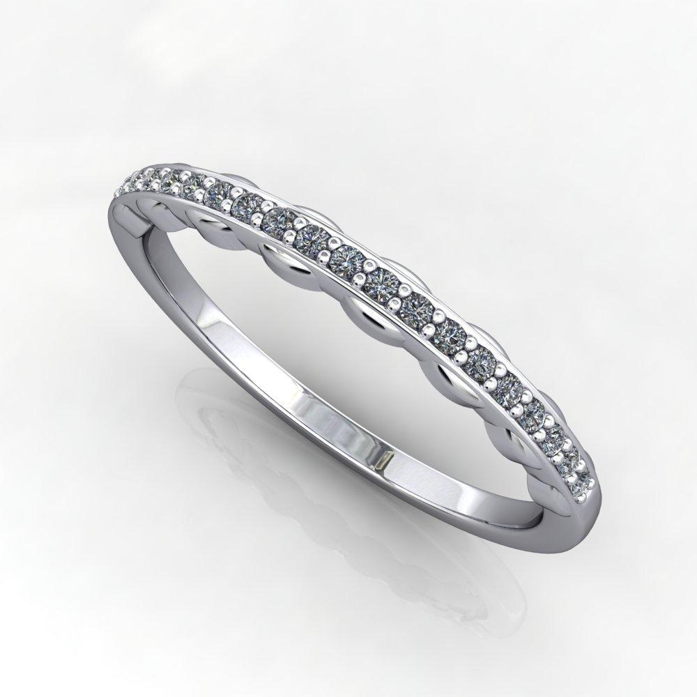 wavy lab-grown diamond band soha diamond co.