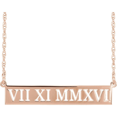 Necklace - Roman Numeral Date Necklace