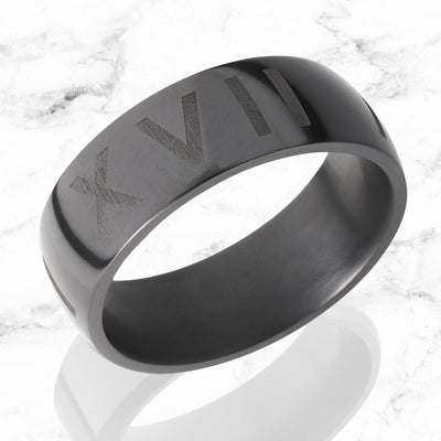 elysium black diamond wedding band custom engraving