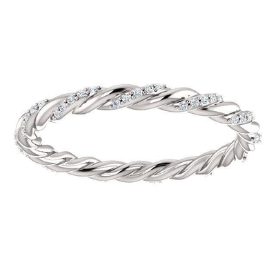 Pavé Diamond Twisted Eternity Band (1/8 CTW)
