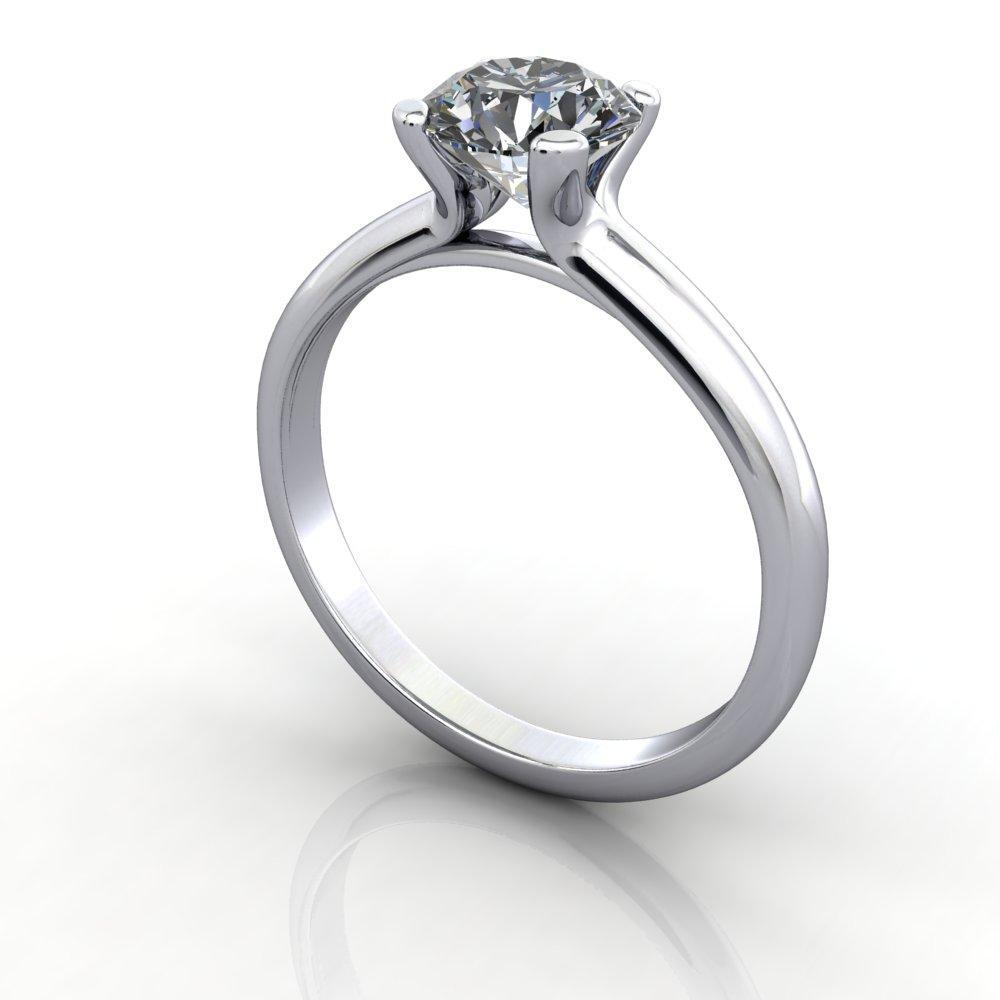 Classic Solitaire lab grown diamond engagement ring
