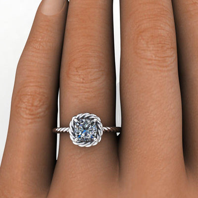 Tori Twisted Halo Lab-Grown Diamond Engagement Ring
