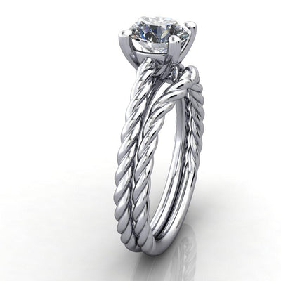 twisted band solitaire soha diamond co