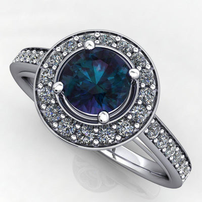 gemstone halo engagement ring soha diamond co.