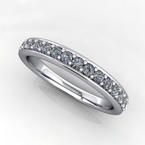 Rounded Edge Diamond Anniversary Band - 1/3 CTW