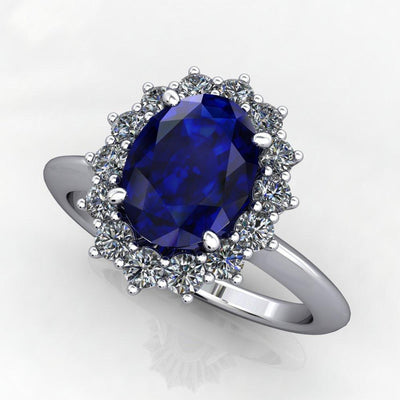 Snowflake Halo Gemstone Ring