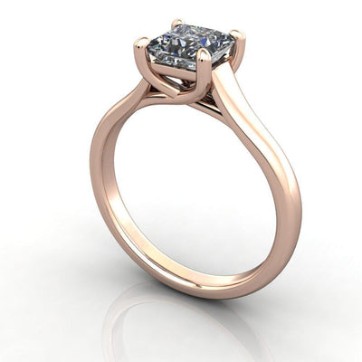 cathedral plain solitaire rose gold