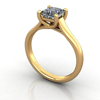 cathedral plain solitaire yellow gold