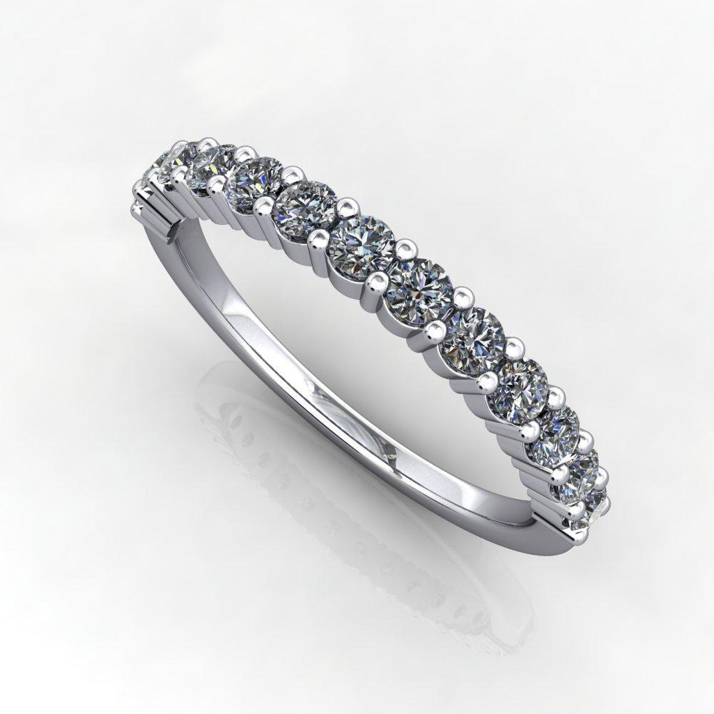 three eights diamond band  soha diamond co