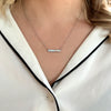 Accented diamond bar necklace lab grown diamond