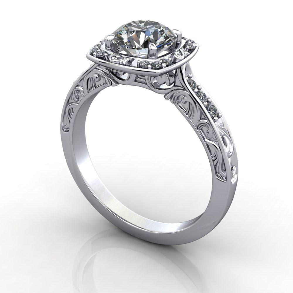 Isabelle Halo Lab-Grown Diamond Engagement Ring