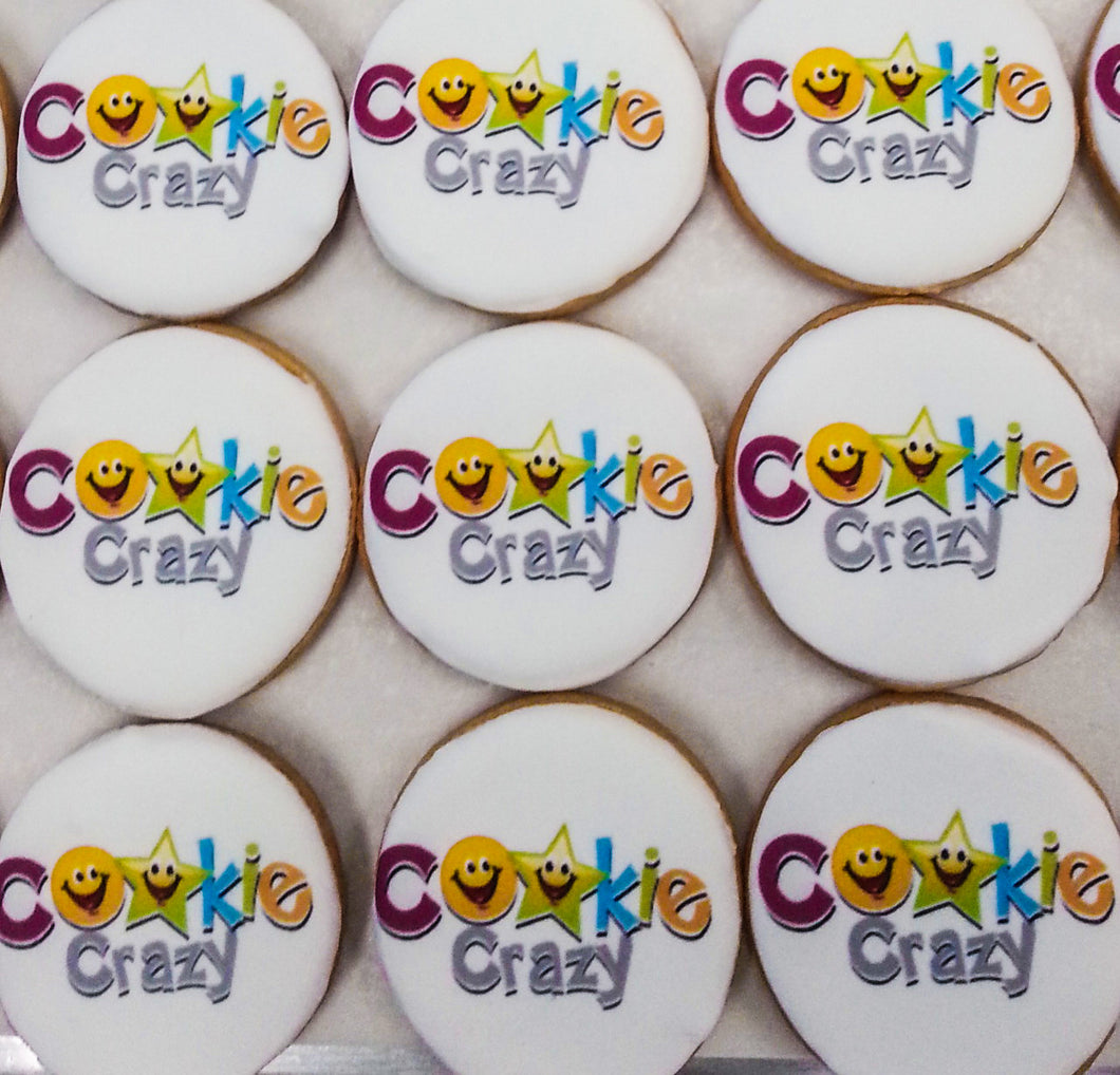 Award Winning Corporate logo cookies.  Promo Cookies hand made in Sydney.