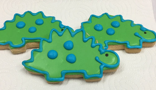 Dinosaur Cookie is Gluten free, dairy free, soy free .  Can also be made vegan if requested. Nut Free bakery