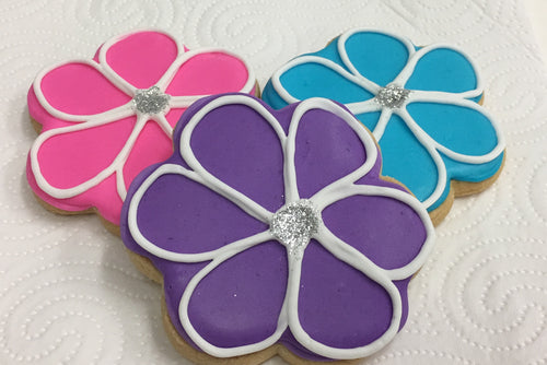 Vegan cookies available by order, natural food colours, egg free, gluten free, dairy free, soy free, nut free, Flower Cookies