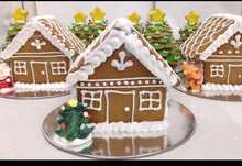 VEGAN Gingerbread House - Red, Green & White