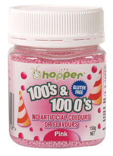 Hopper Pink 100's & 1000's Gluten Free Natural Colours