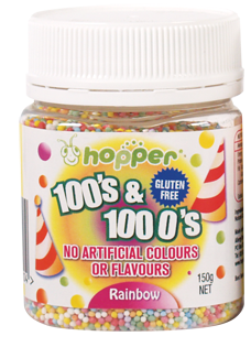 Rainbow 100's & 1000's Gluten Free Natural Colours
