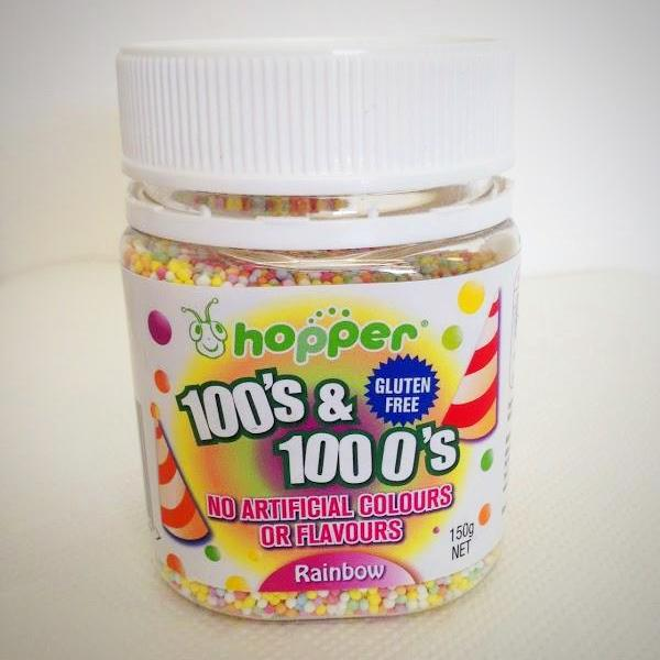 Hopper Rainbow 100's & 1000's Gluten Free Natural Colours