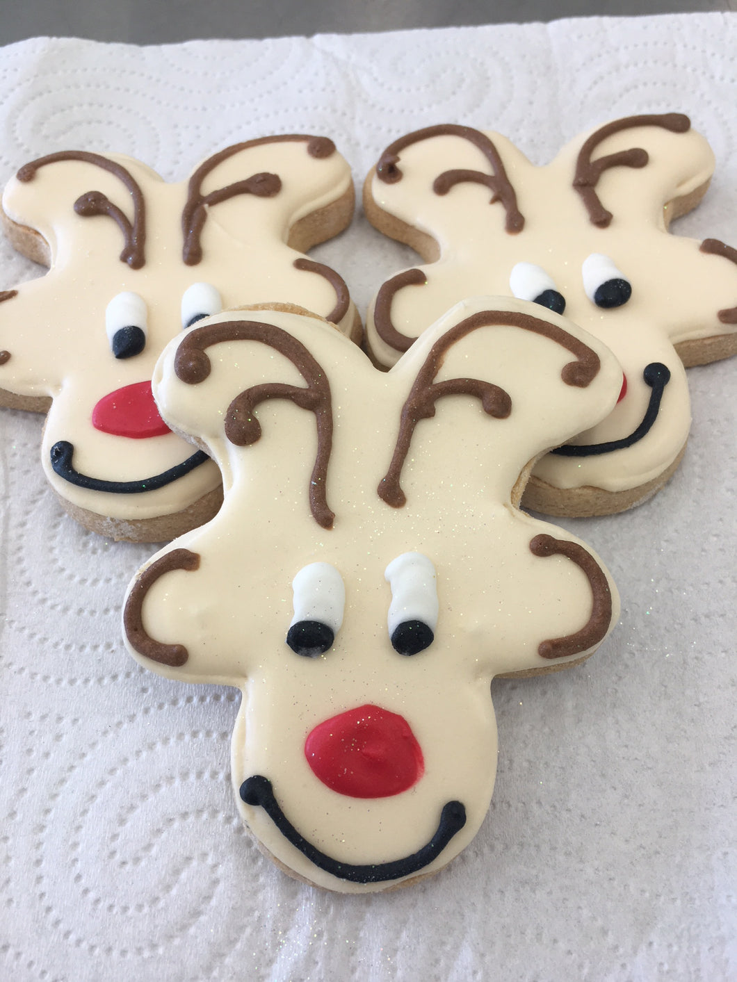 VEGAN Christmas Rudolph Reindeer : Vanilla- Gluten, Dairy, Egg Free and Soy Free