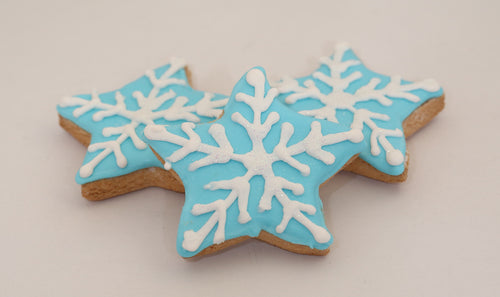 Snowflake Stars Blue or Red: Vanilla - Gluten and Dairy Free