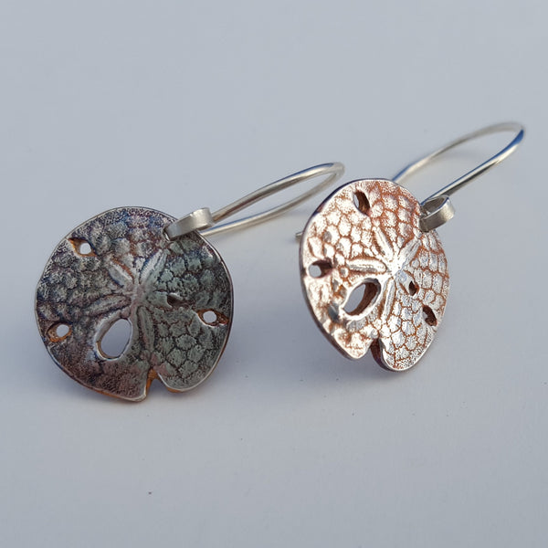 Sand Dollar Earrings (Silver)