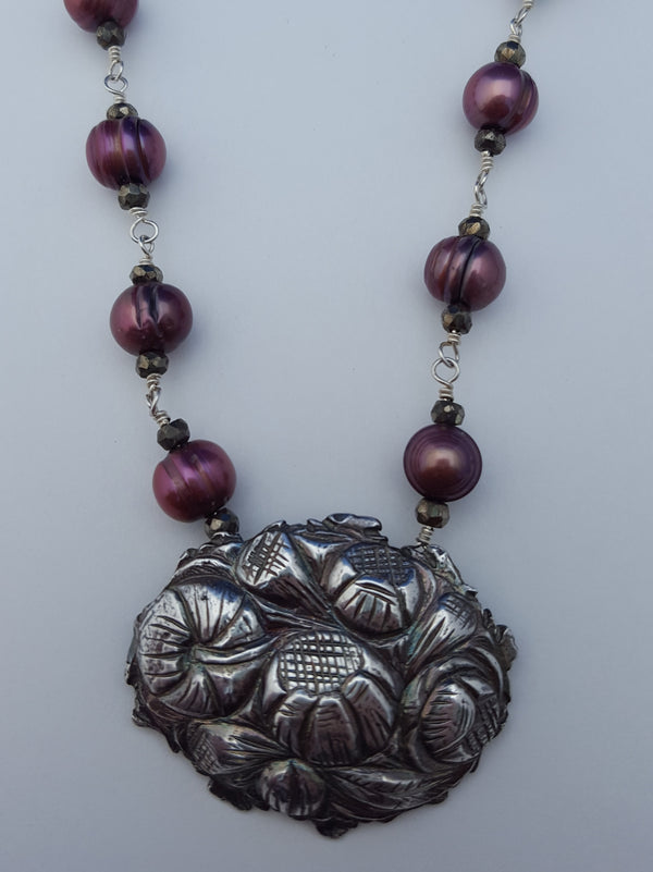 Antique Brooch Necklace