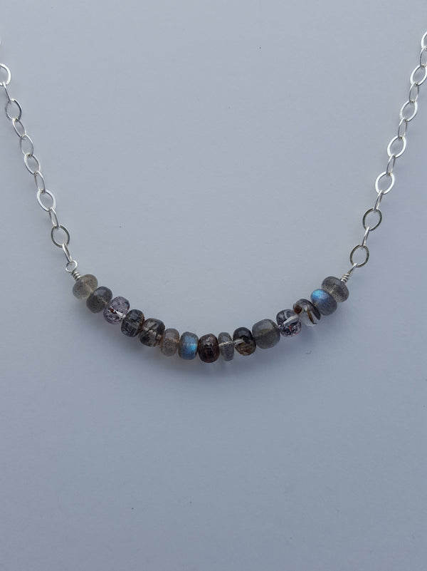 Semi-precious Rondelle Necklace