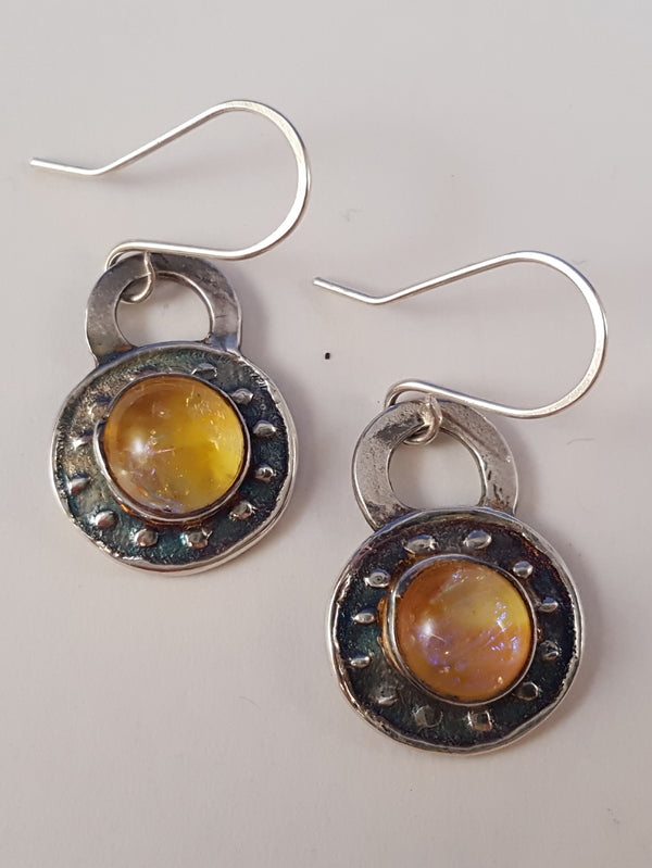 Small Dichroic Earrings