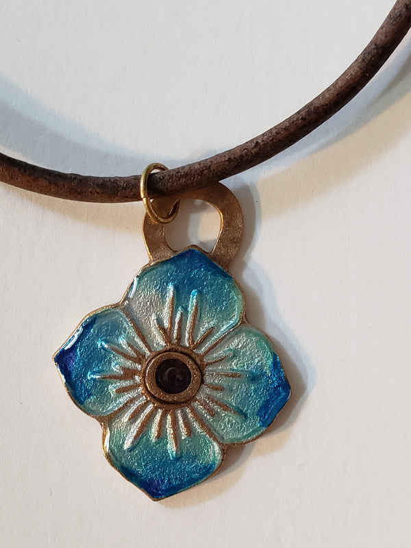 Bronze Flower Pendant