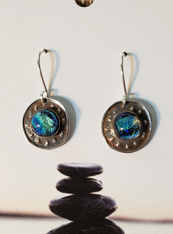 Mini Dichroic Earrings