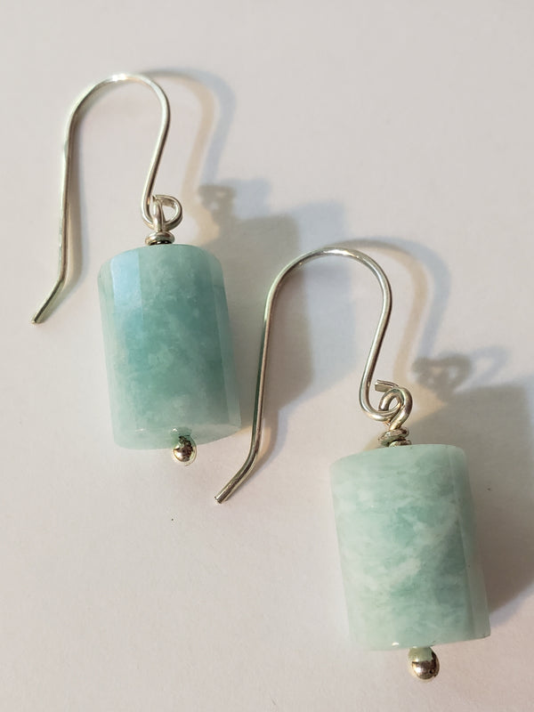 Barrel Amazonite Earrings
