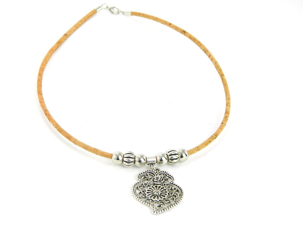 "Collier ""Vinan Heart"" 45cm - La Mode en Liege"