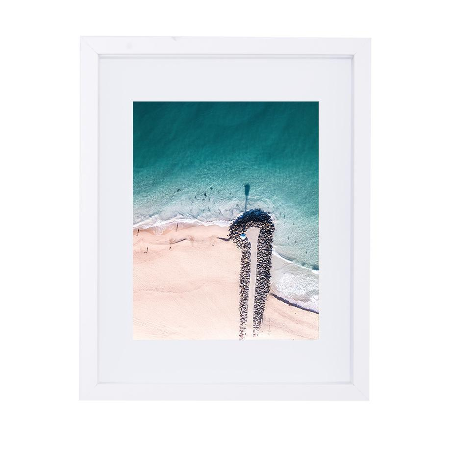 Coastal Collections Co Print City Beach Aerial Print