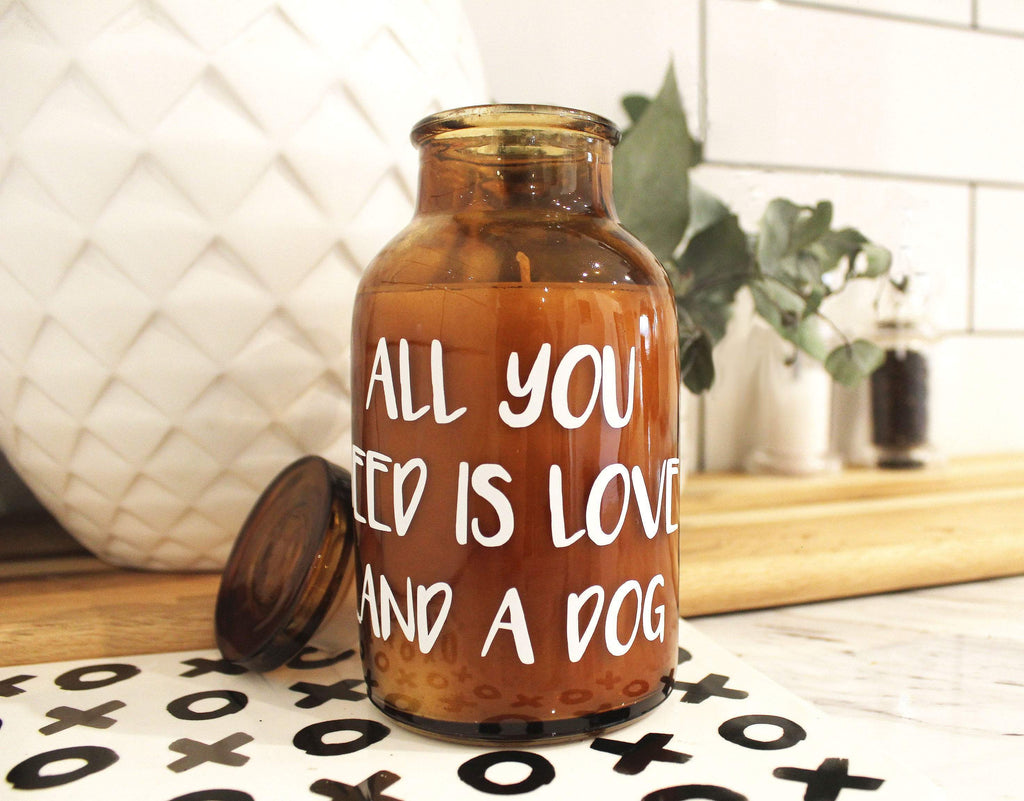 loumirandaaco Candle Love A Dog Soy Candle