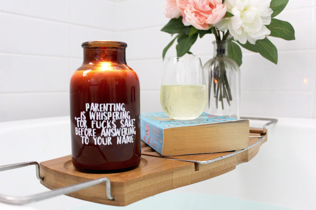loumirandaaco Candle Parenting Quote Soy Candle