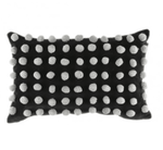 loumirandaaco Cushion Bella Pom Pom Cushion Black