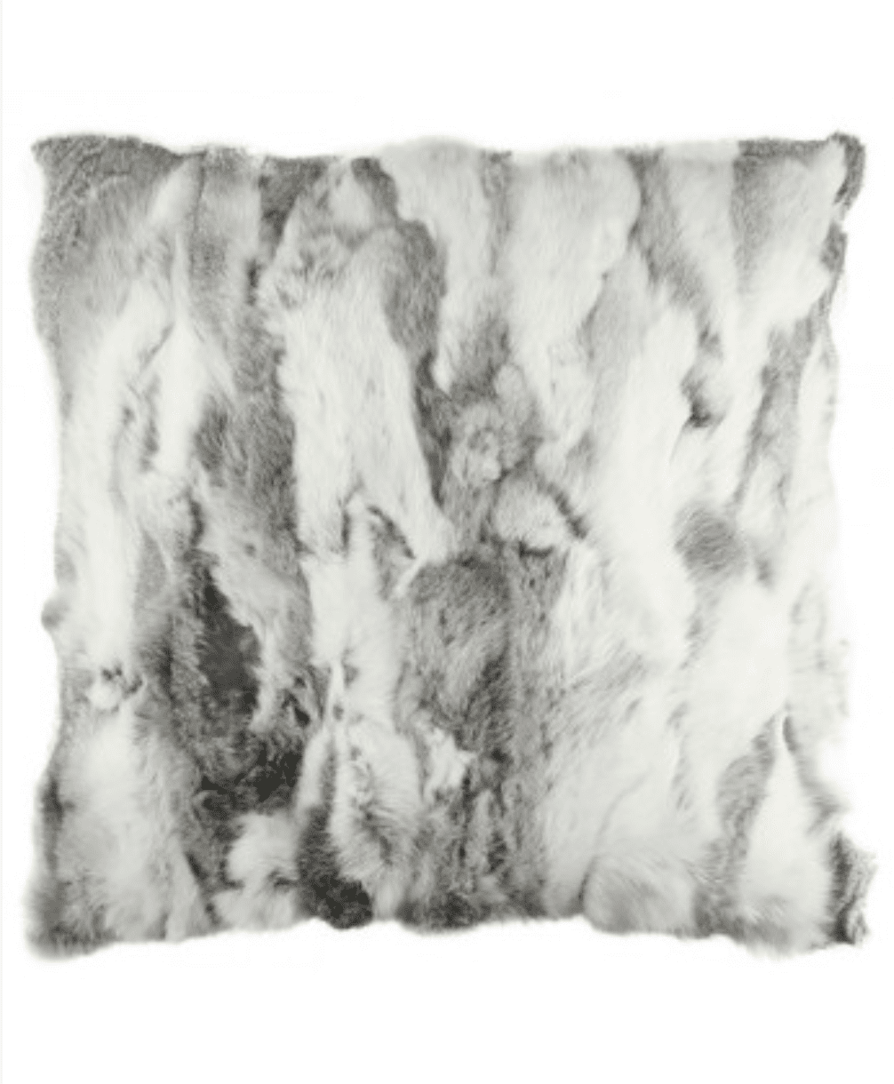 loumirandaaco Cushion Ryder Genuine Rabbit Fur Cushion