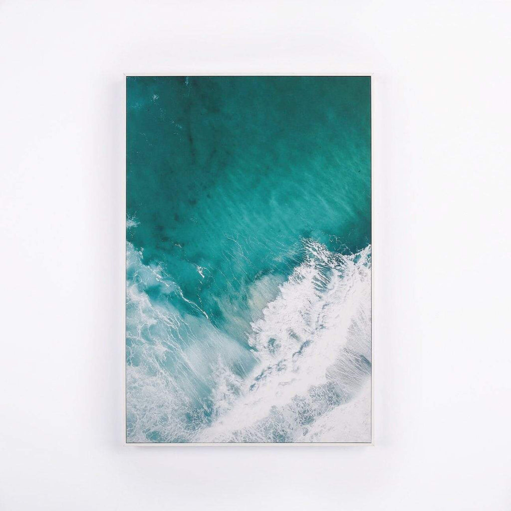 loumirandaaco Indjinup Waves Framed Canvas