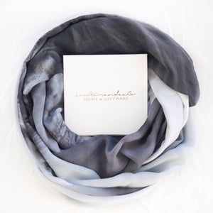 loumirandaaco Scarves Black & White Cow Scarf