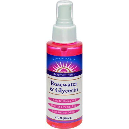 Heritage Products Rosewater and Glycerin Spray - 4 fl oz - MAXMARTZ