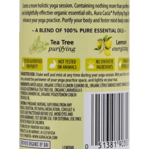Aura Cacia Organic Yoga Mist - Purifying Tea Tree and Lemon - 4 oz - MAXMARTZ