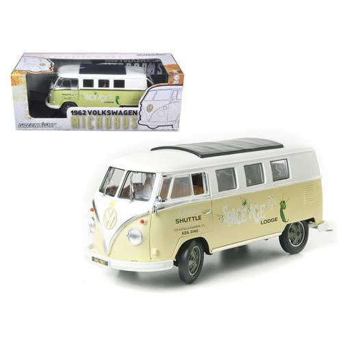 "1962 Volkswagen Microbus ""Space Age Lodge"" Cream 1/18 Diecast Model Car by Greenlight - MAXMARTZ"