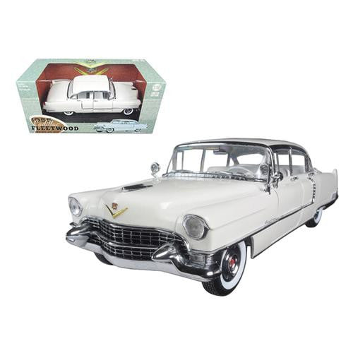 1955 Cadillac Fleetwood Series 60 White 1/18 Diecast Model Car by Greenlight - MAXMARTZ