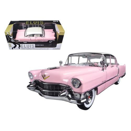 "1955 Pink Cadillac Fleetwood Series 60 Special ""Elvis Presley"" 1/18 Diecast Model Car by Greenlight - MAXMARTZ"