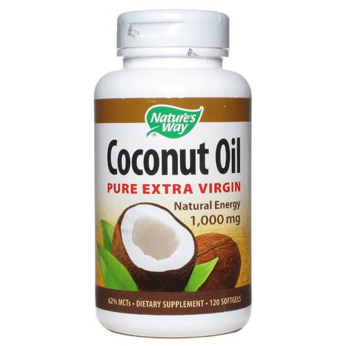 Nature's Way Coconut Oil - 1000 mg - 120 Softgels - MAXMARTZ