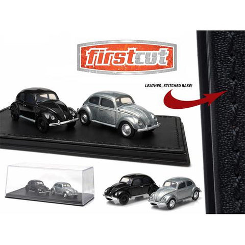 First Cut 1938-53 Volkswagen Beetle Split Window Hobby Only Exclusive 2 Cars Set 1/64 by Greenlight - MAXMARTZ