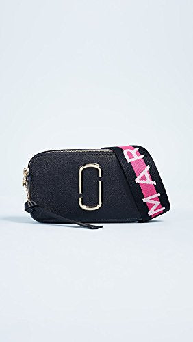 Marc Jacobs Designer Women's Snapshot Camera Bag, Black & Pink Multi-colour - MAXMARTZ