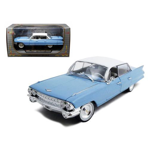 1961 Cadillac Sedan De Ville Eldorado Blue 1/32 Diecast Car Model by Signature Models - MAXMARTZ