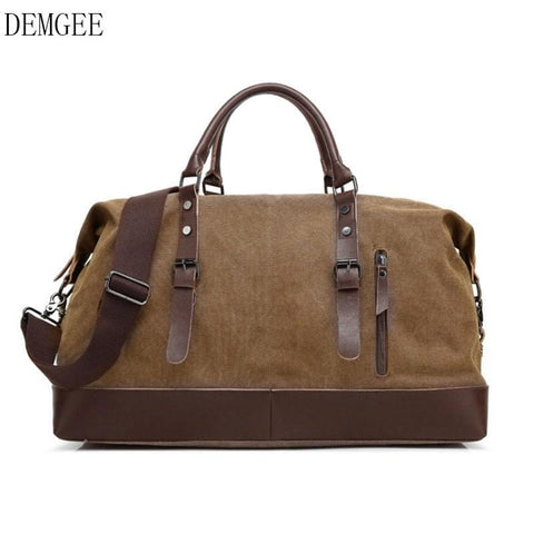 DEMGEE 2018 Canvas Travel BagsNylon Large Capacity Men Hand Luggage Travel Duffle Bags 5 Colors Male bag Free Shipping - MAXMARTZ